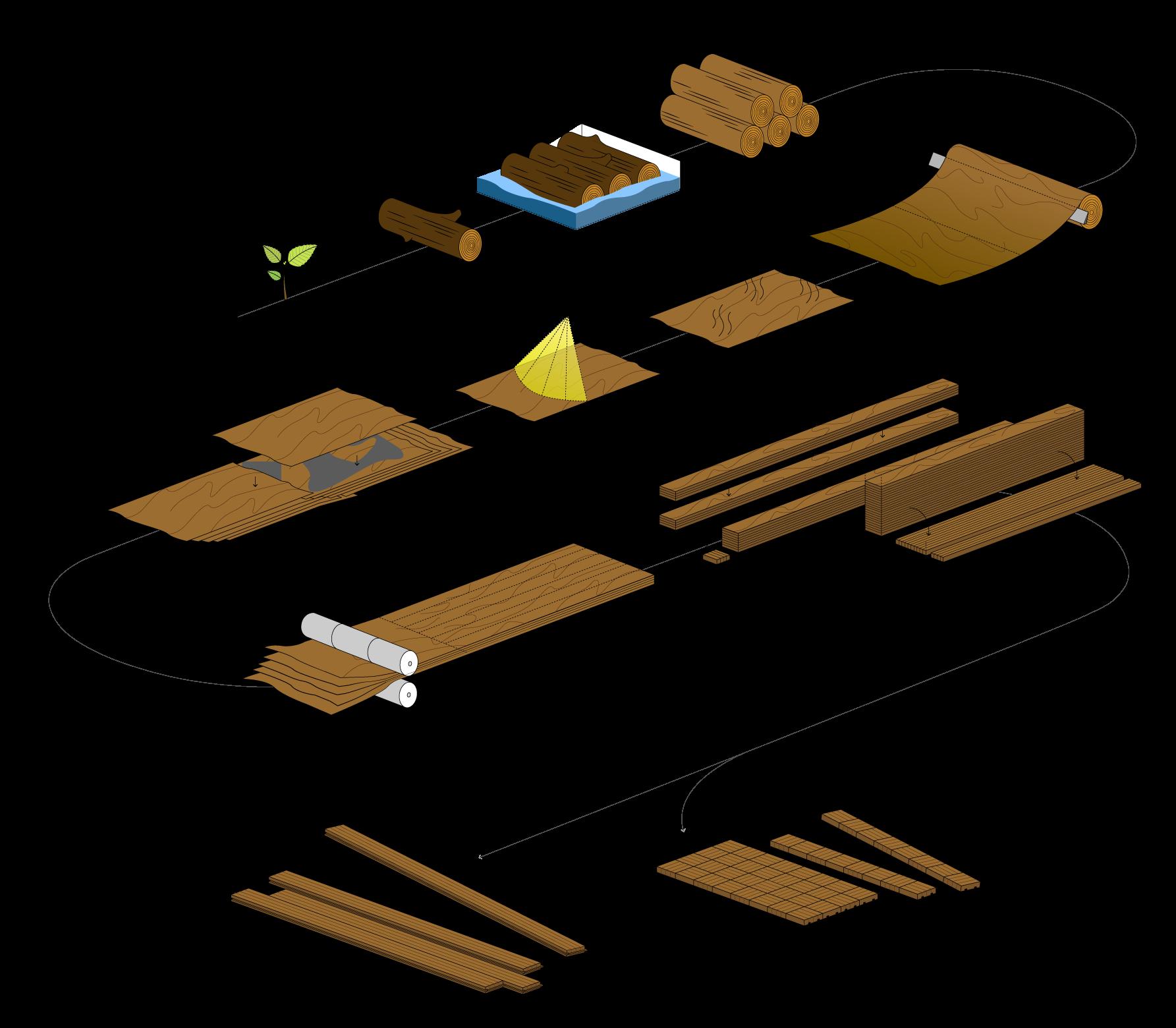 비치 LVL 제작 과정